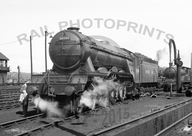Rail Photoprints: A3 Pacifics 60035 - 60112 &emdash; 60040-Y-York-1954-RPC554
